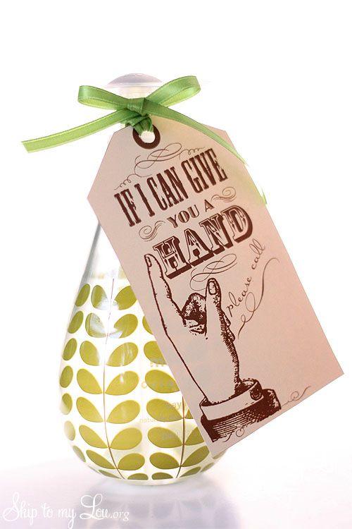 Back to school teacher gift w/ free Printable tag.