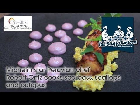 Michelin star Peruvian chef Robert Ortiz cooks sea bass, scallops and octopus - YouTube