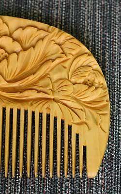 Japanese traditional Tsuge (Japanese Box) comb つげ櫛