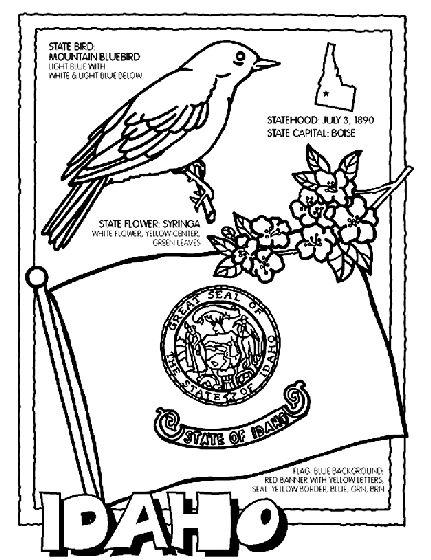 Idaho State Symbol Coloring Page