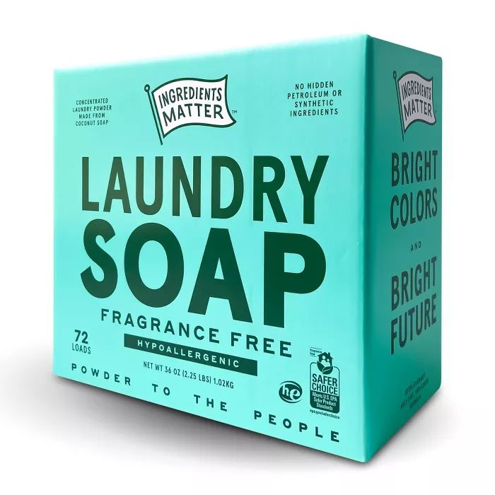 Ingredients Matter Fragrance Free Laundry Soap Powder 36oz In
