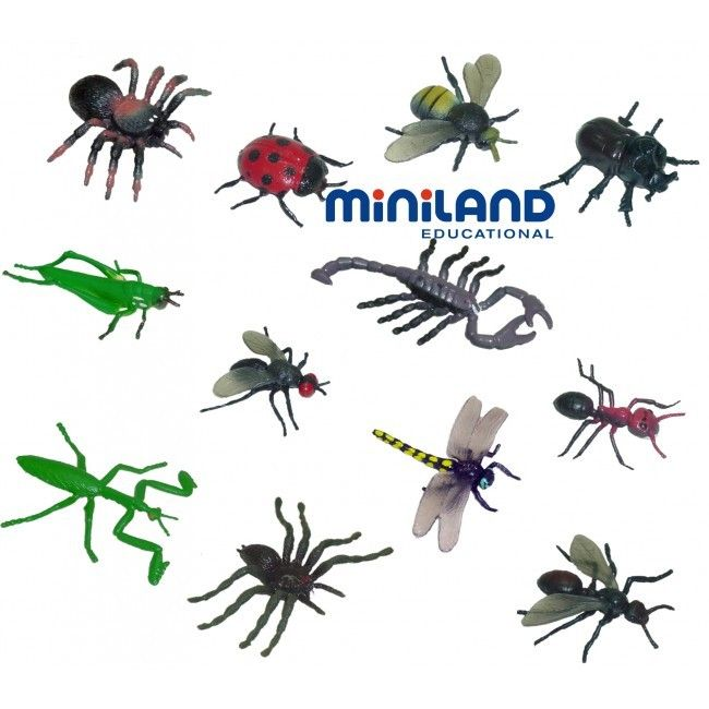 Miniland Insects - Tumble & Roll Educational Toys. This set teaches kids about different creepy crawlies and flying insects and encourages interest in the animal world. Recommended for children 3-9 years. $28.00 #educationaltoys #toys #kidsscience #insects