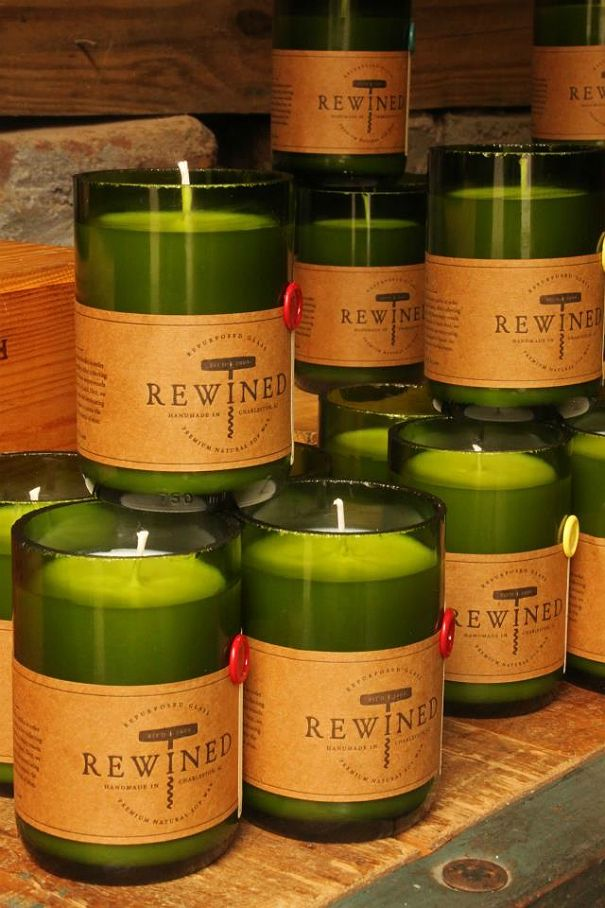 Best 25 rewined candles ideas on pinterest candle for Make candle holder wine bottle