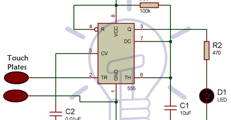 Simple Touch Sensitive Switch Circuit using 555 Timer ...