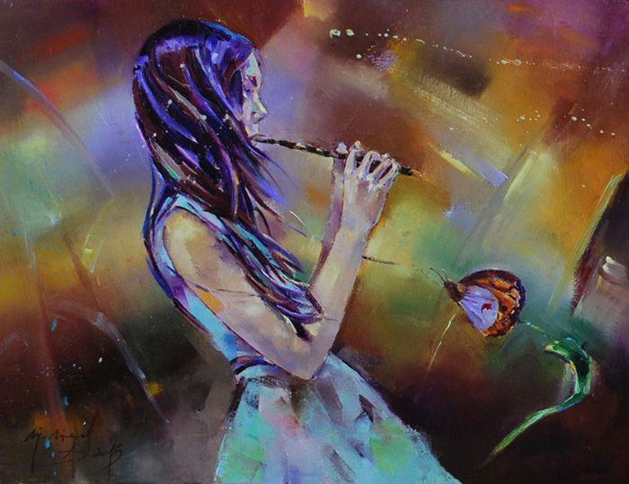 Singing butterfly Malgorzata Niegel niegelgallery