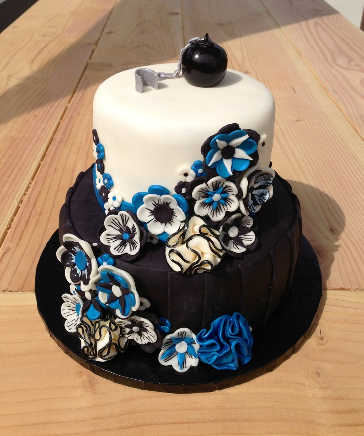 Blue And Black Wedding Ideas: 53 Best Images About Black, White & Blue Wedding On