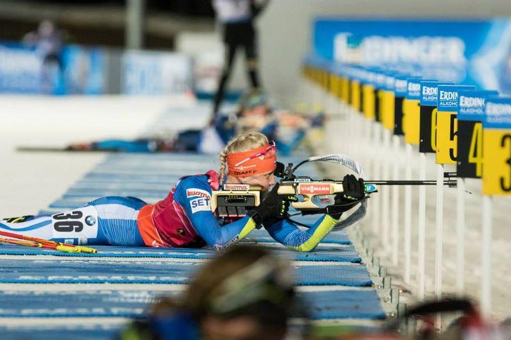 11.03.2015, Kontiolahti, Finland (FIN): Kaisa Mäkäräinen, Women individual 15km- IBU world championship biathlon, Kontiolahti (FIN),