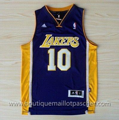 maillot nba pas cher Los Angeles Lakers Nash #10 pourpre nouveaux tissu 22,99€