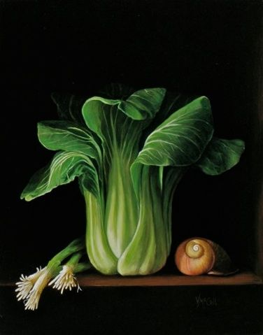 ... about Veggies on Pinterest Acrylics, Cabbages and Food painting