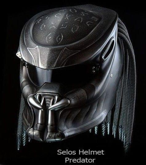ALIEN PREDATOR HELMET MOTORCYCLE STYLE DOT APPROVED #CELLOS #Predator