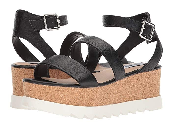 Platform wedge sandals, Black wedge sandals