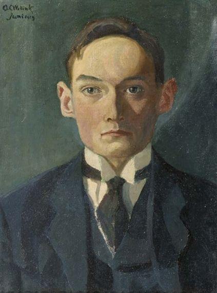 """""""Portret van de beeldhouwer C. Schrikker (Portrait of the Sculptor C. Schrikker)"""", 1919 / Carel Willink (1900-1983) / Collectie Schrikker, Laren, The Netherlands"""