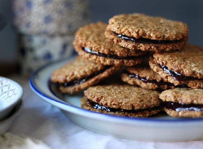 DIY Almond Butter & Jam Sandwich Cookies | My New Roots