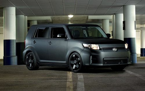 scion xb wrapped | Scion XB Matte Black 3M