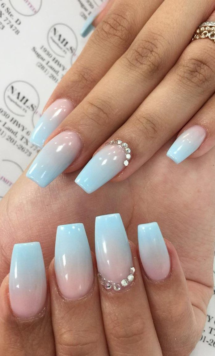 50 Fabulous And Summer Ombre Nail Design Ideas For 2019 Part 29 Blue Ombre Nails Ombre Nail Designs Nail Designs