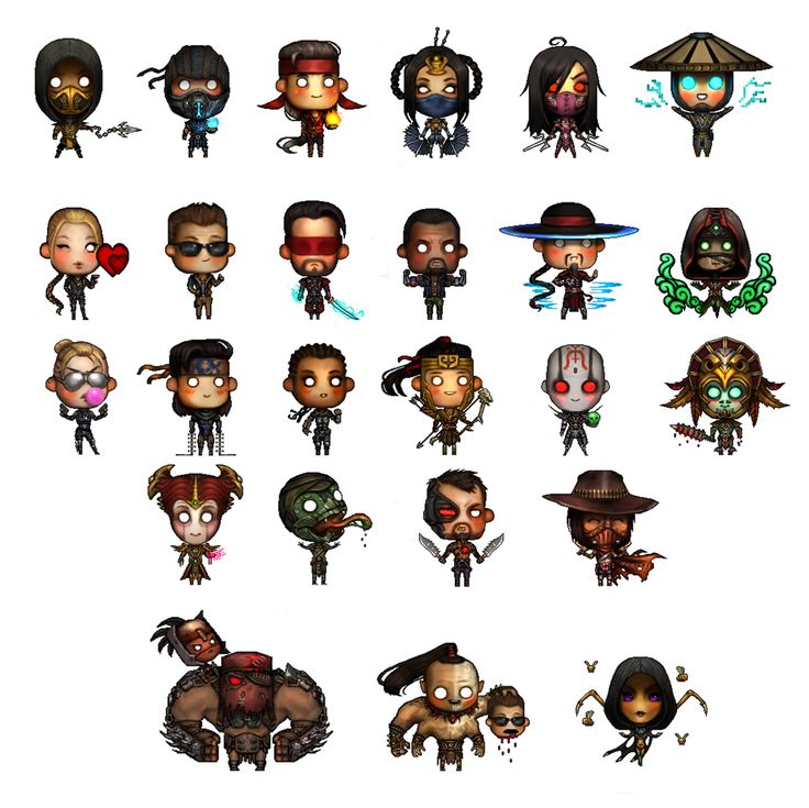 Jaki — Mortal Kombat X kutie icons I made for the game :)...