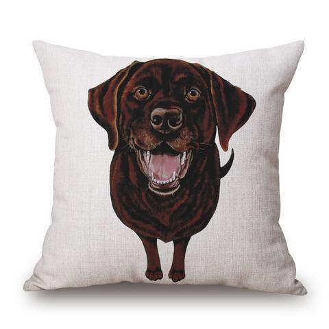 Cushion Cover - Brown Labrador