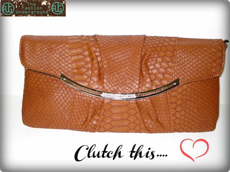Your anaconda will.... in this gorgeous snake skin diamante clutch, #trendsetter alert
