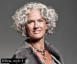 Afbeeldingsresultaat voor kapsels grijs lang halflang krullend haar