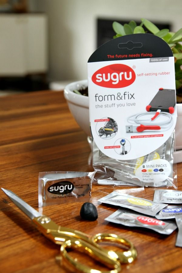 sugru | mouldable glue | bonds to almost any other material and cures just by exposing it to air. its durable cured properties mean it'll stay strong and securely bonded anywhere from the freezer to a steamy hot shower, from the home to the great outdoors.