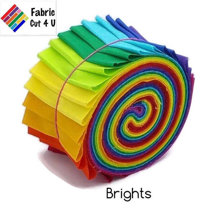 A personal favourite from my Etsy shop https://www.etsy.com/au/listing/280465042/20-x-25-brights-jelly-roll-precut-fabric