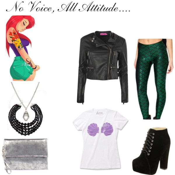 No Voice, All Attitude. by anaussiegirlslife on Polyvore featuring Boohoo, ASOS and Disney