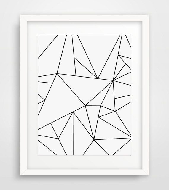 Geometric Art, Black and White, Minimalist Art, Geometric Print Art, Origami Art, Modern Wall Art, White Geometric, Minimal Print Art