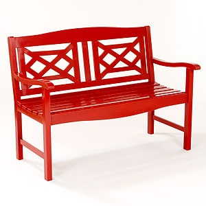 Red Wooden Garden Bench - World Market - $149.99