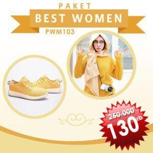 Paket Best Women Rajut Yellow