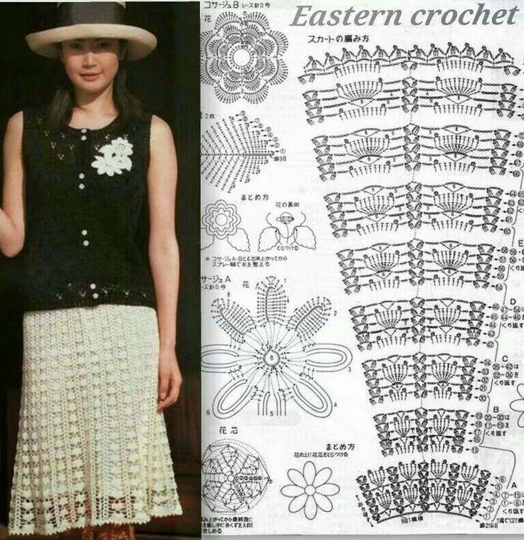 84 best Faldas images on Pinterest | Crochet clothes, Crochet skirts ...
