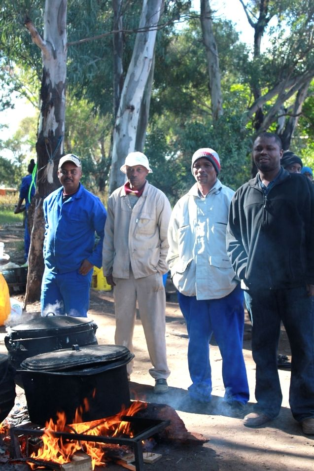 Cooking traditional street food, South Africa.