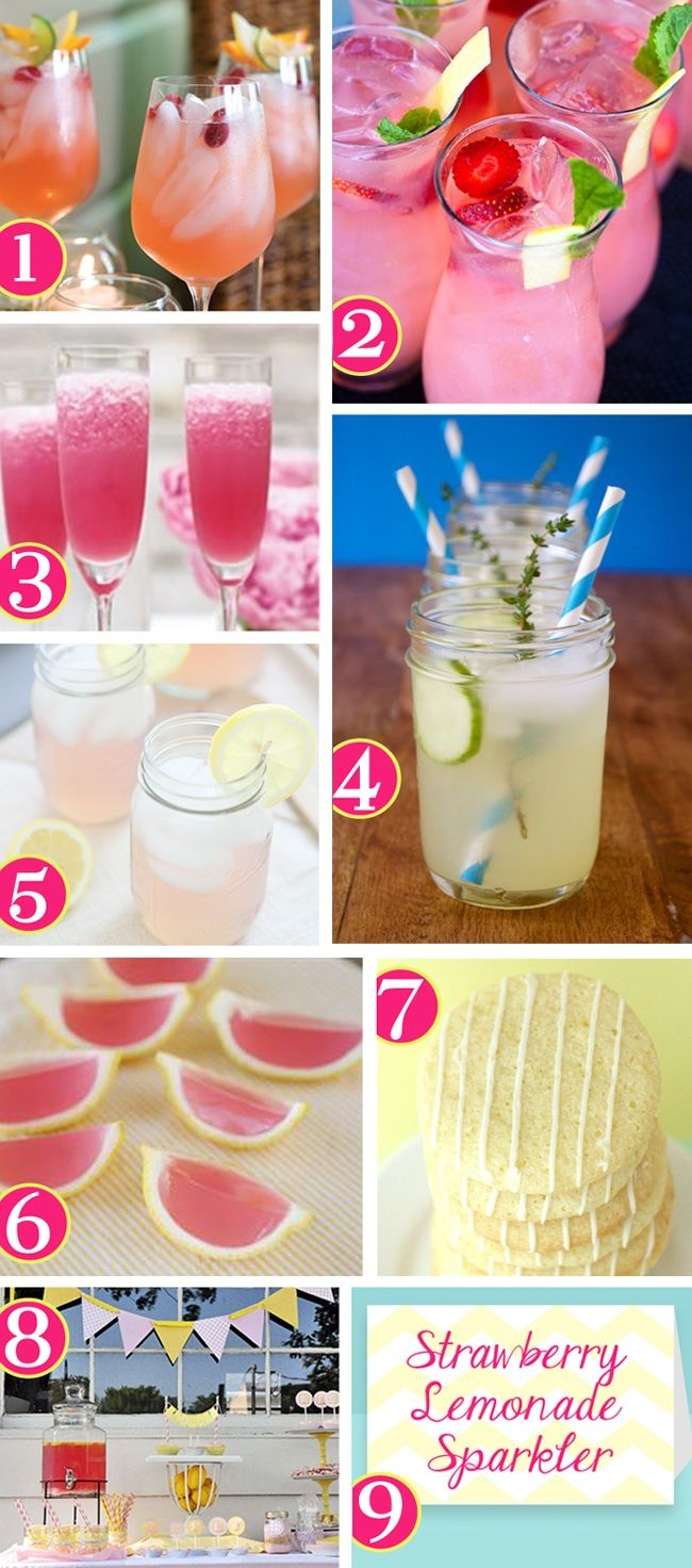 Pink lemonade drink recipes