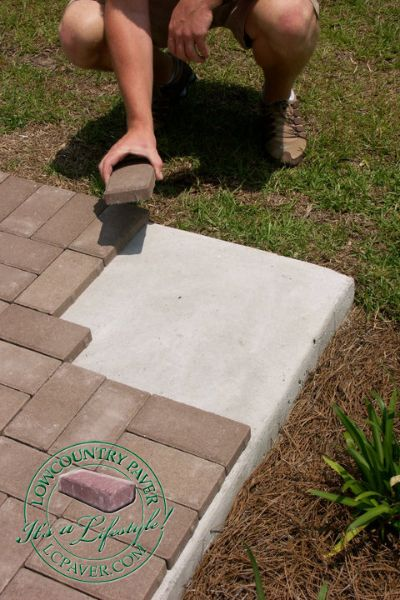 "Are you tired of looking at a boring concrete patio, pool deck, walkway or steps? Bring new life with thin pavers! Our thin ""remodeling"" pavers are specially designed for overlaying existing concrete patios, walks & pool decks."