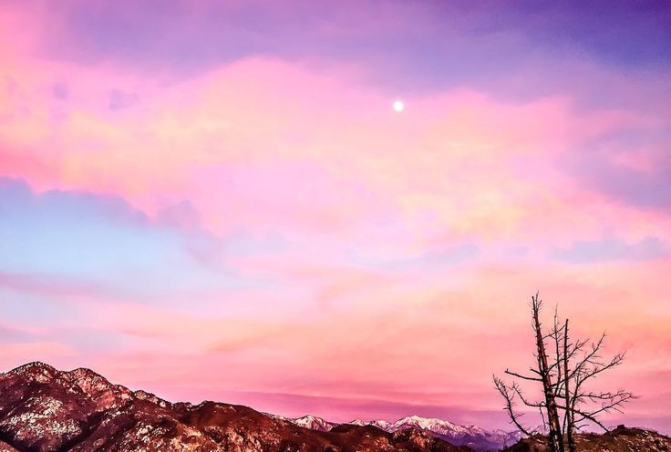 sky aesthetic landscape pastel pink backgrounds moon dreamy wallpapers magical anime aesthetics japan a4 vans instagram