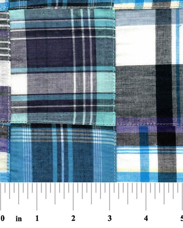 Madras Patchwork Cotton Fabric Fabric Finders by ThePalmettoBaby
