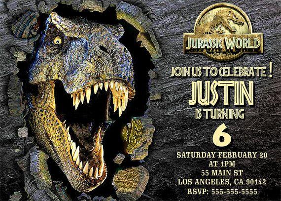 Invitación de mundo Jurásico archivo digital de por BogdanDesign