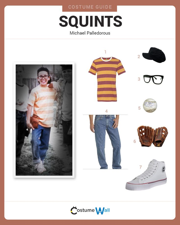 Dress Like Squints from Sandlot. See additional costumes and Squints cosplays. (Halloween College Trio)