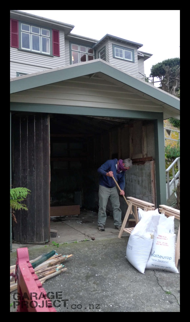 Cleaning out the original Garage site in early 2011