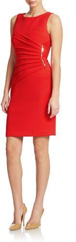 Ivanka Trump Starburst Zip-Trim Dress - I have this in black very sophisticated