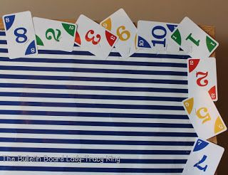 Recycle incomplete card sets as bulletin board border