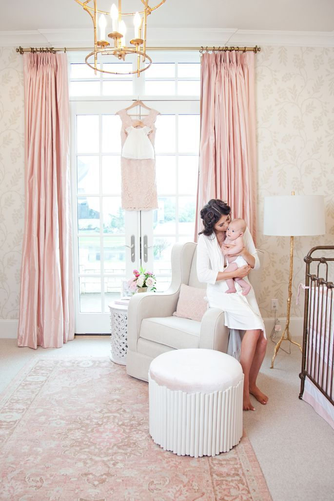 Bedroom Baby Decoration: Kids Bedroom Ideas - Pink And White Nursery