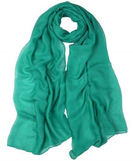 Soft Plain Turquoise Hijab Scarf