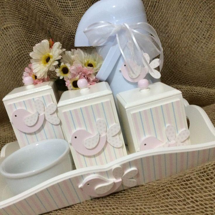 kit-higiene-passarinho-rosa-passaros.jpg (1200×1200)