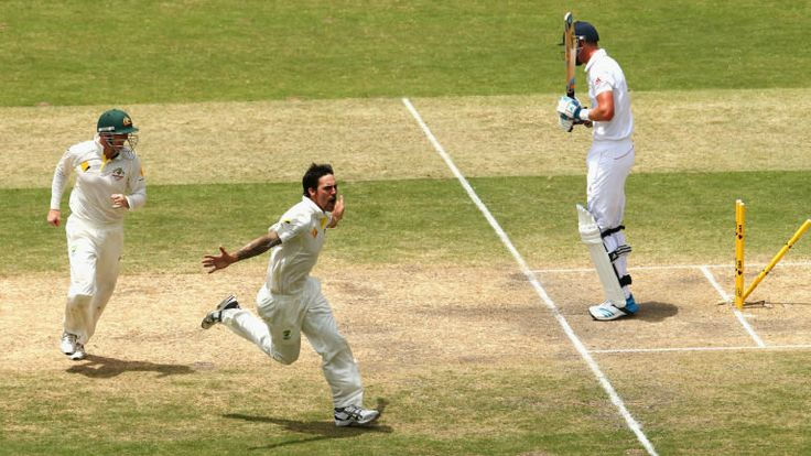 Australia decline follow-on after more Mitchell Johnson heroics #cricket #sports