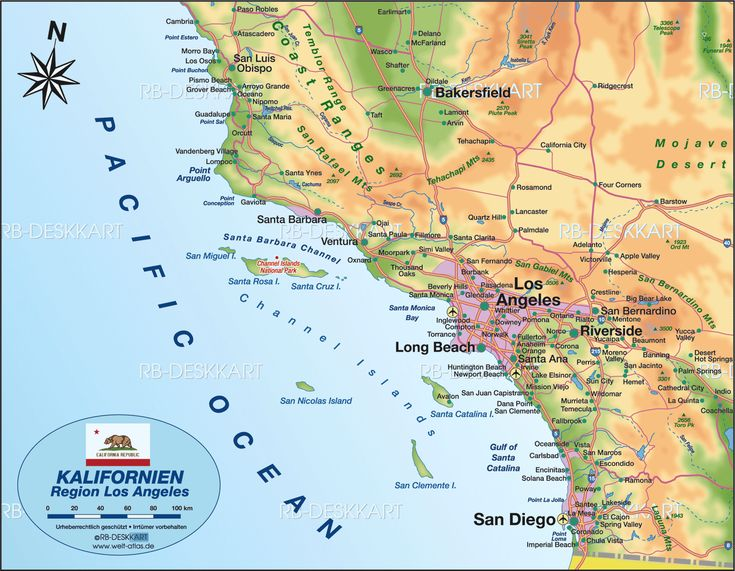 Los Angeles Usa Mapa De Los Angeles California Estados Unidos - Usa mapa