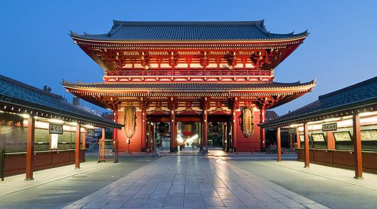Asakusa Kannon Temple Tokyo on our Honeymoon -  March 2012