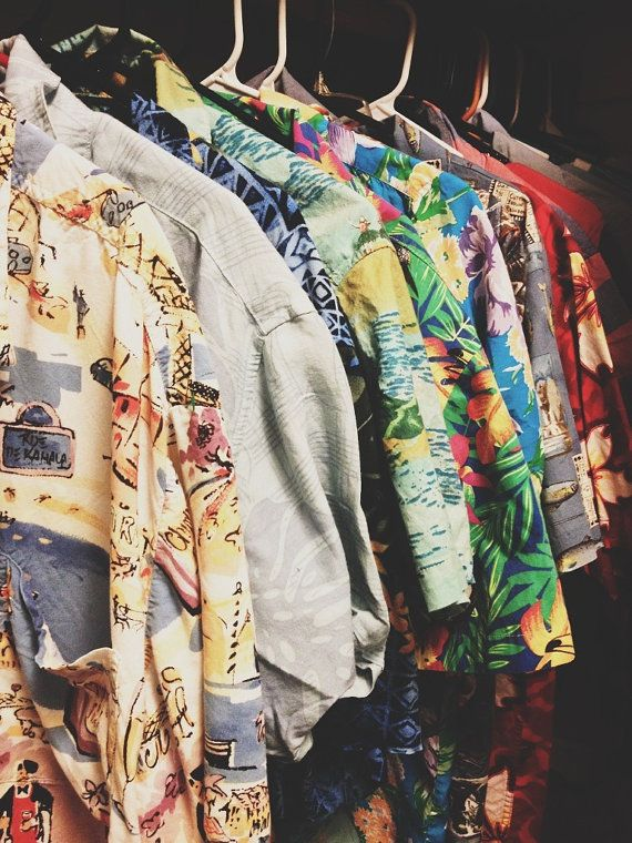Vintage Hawaiian Shirt Choose Your Color by BeatUpBlues on Etsy