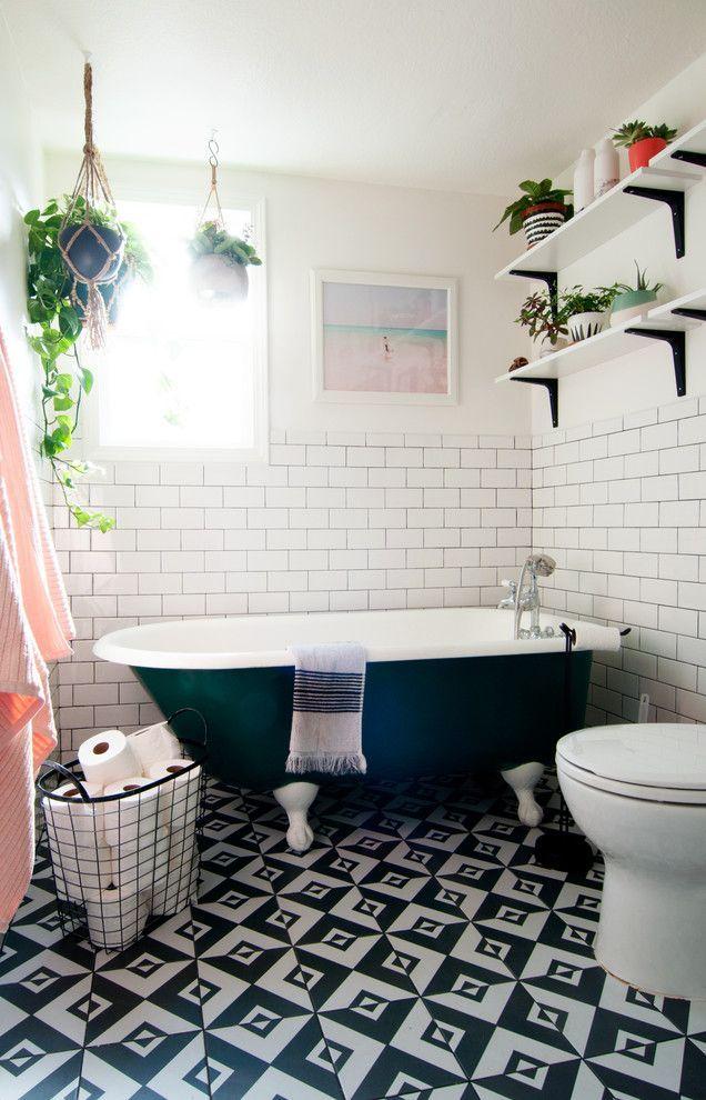 Výsledek obrázku pro eclectic bathroom