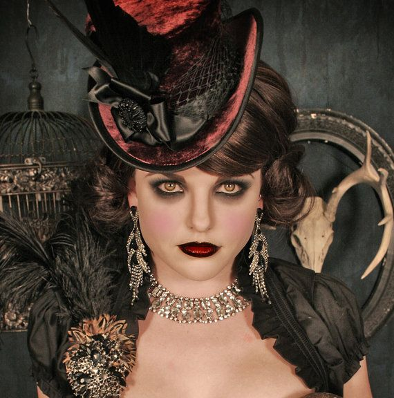 "Etsy Item of the Day: ""The Mini Beaux"" Velvet and Satin Victorian Top Hat by Topsy Turvy Design. $249."
