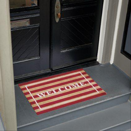 CUSTOMISABLE WELCOME Original stripes of USA flag Doormat - original gifts diy cyo customize